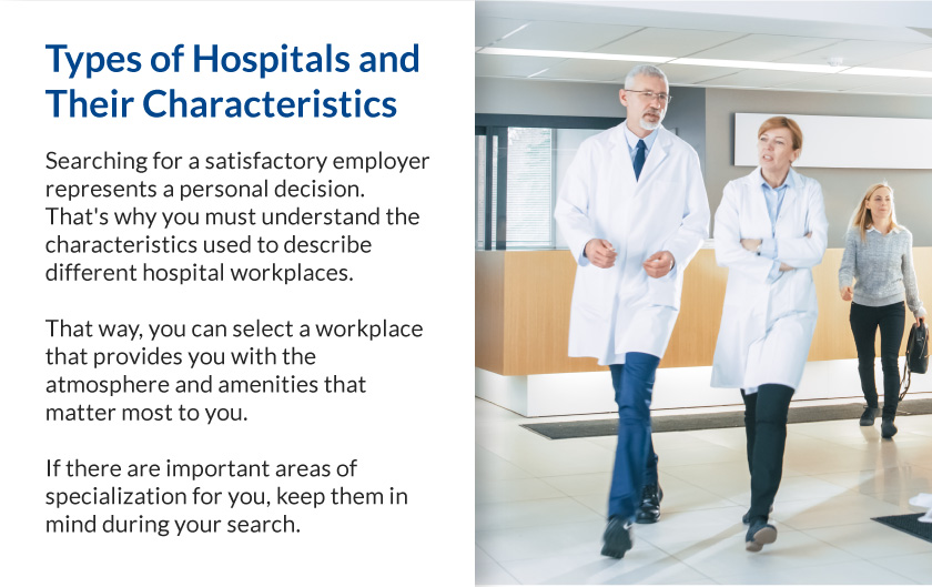 Callout 1 image of male and female hospital workers walking in corridor with text