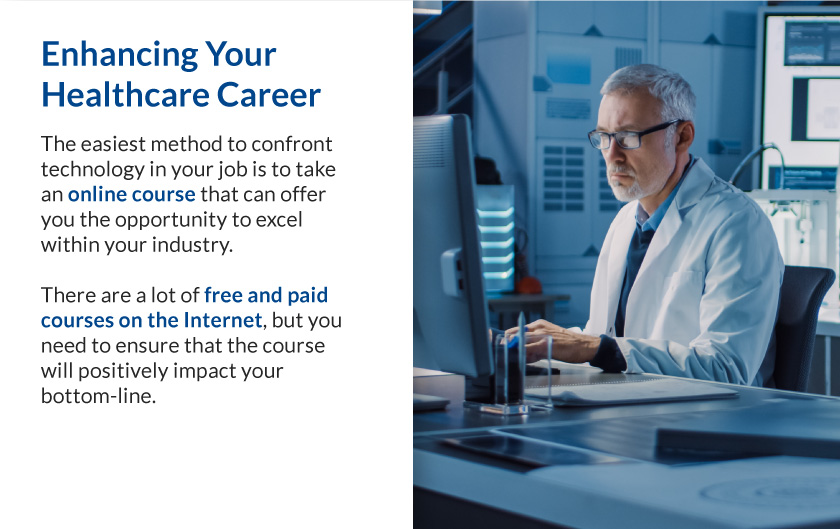 Callout 3 image of doctor working at a computer with text